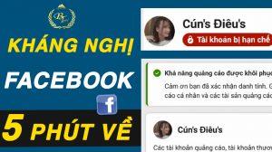 5 phút mở khóa tài khoản quảng cáo facebook bị vô hiệu hóa